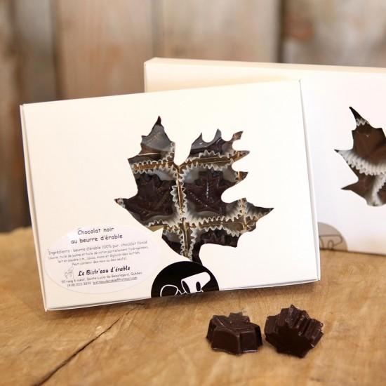 Maple flavored dark chocolate