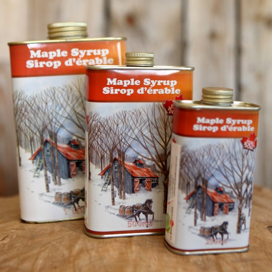 Jug of maple syrup
