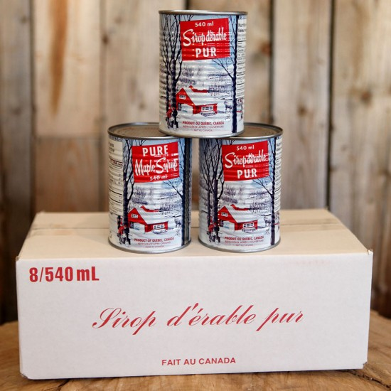 Caned Maple syrup (8 cans)